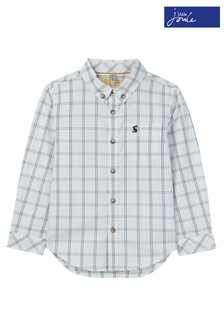 Joules White Welford Long Sleeve Check Shirt