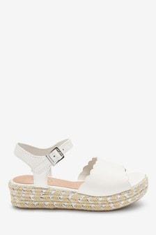 Leather Wedge Sandals (Older)