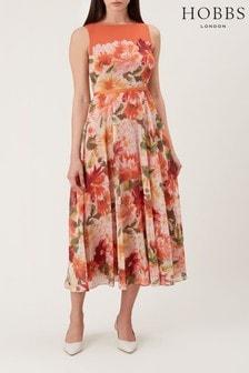 Hobbs Orange Carly Dress