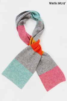 White Stuff Natural Rainbow Stripe Scarf