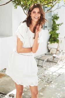 Linen Embroidered Dress