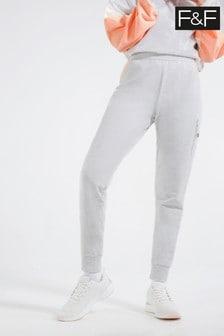 F&F Grey Colourblock Jersey Joggers