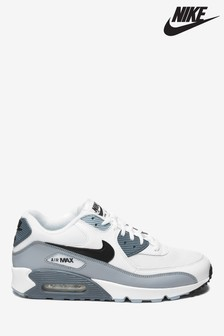 Nike White/Grey Air Max 90 Trainers