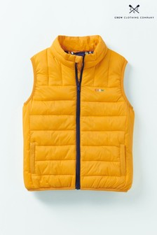 Crew Clothing Yellow Lightweight Gilet
