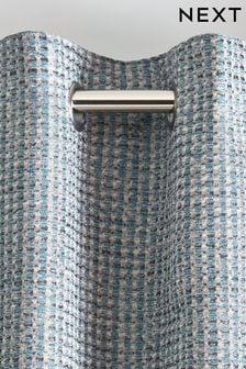 Mini Circle Geo Jacquard Eyelet Curtains