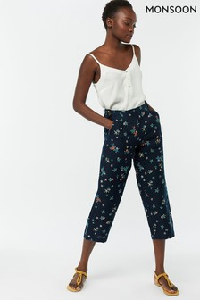 Monsoon Ladies Blue Neka Star Printed Bonita Trouser