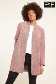 F&F Pink Textured Coat