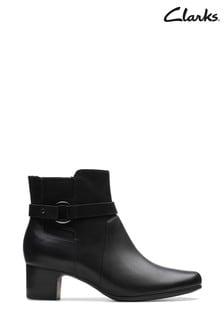 Clarks Black Un Damson Mid Boots