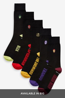 Pack de cinco pares de calcetines de Marvel®