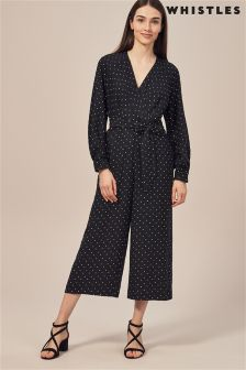 Whistles Black Spot Jumpsuit