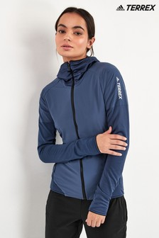 adidas Terrex Blue Skyclimb Zip Through Hoody