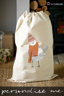 Personalised Robin Christmas Sack by Loveabode