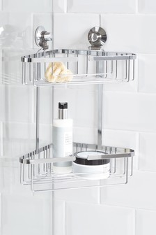 Estante para ducha de alambre 2 niveles
