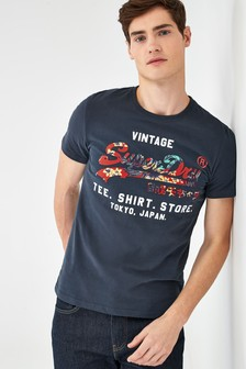 Superdry Infill T-Shirt, marineblau