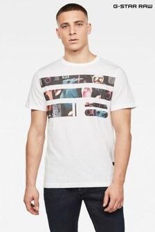 G-Star White Originals Photo T-Shirt