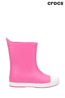 Crocs Pink Bump It Waterproof Pull-On Wellington Boots