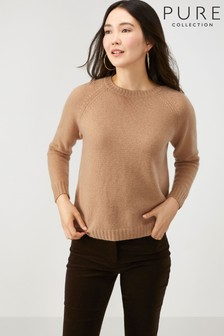 Pure Collection Brown Cashmere Lofty Sweatshirt