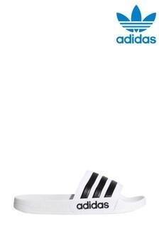 adidas White Adilette Shower Sliders