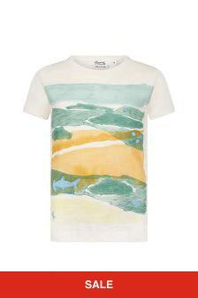 Bonpoint Boys Cream Cotton T-Shirt