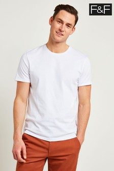 F&F White Crew Neck T-Shirt