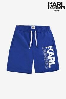 Karl Lagerfeld Kids Blue Shorts
