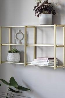 Gold & Glass Shelf