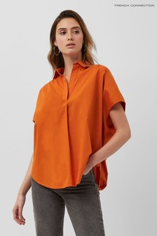 French Connection Orange Cele Sleeveless Rhodes Shirt