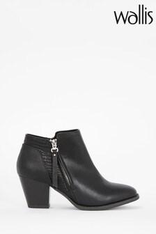 Wallis Acapella Black Croc Mix Casual Boots