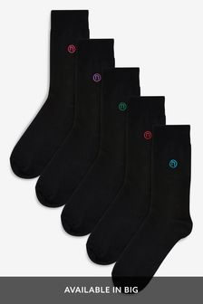Colour N Logo Socks Five Pack