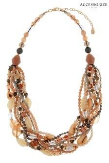 Accessorize Pink Mega Bead Gemma Necklace