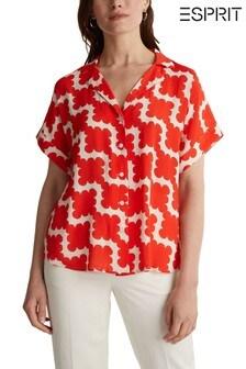 Esprit Orange Short Sleeve Blouse