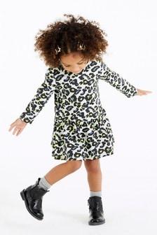 Платье со звериным принтом (3 мес.-7 лет)
