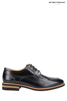 Steptronic Black Volta Lace-Up Shoes