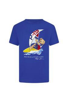 Ralph Lauren Kids Boys Blue Cotton T-Shirt