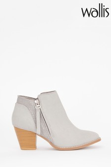 Wallis Acapella Grey Croc Mix Casual Boots