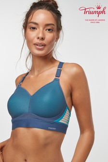 Triumph® Teal Triaction Hybrid Lite Padded Sports Bra