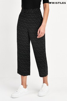 Whistles Mini Triangle Crepe Trousers