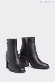Tommy Hilfiger Black Corporate Ankle Boots