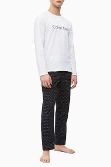Calvin Klein White Logo Pyjama Set