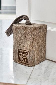 Wood Effect Doorstop