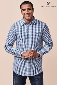 Crew Clothing Company Blue Crew Classic Gingham Shirt