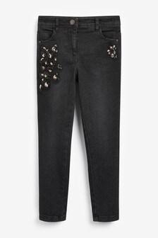 Sequin Embellished Skinny Jeans (3-16yrs)