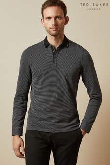 Ted Baker Black Stripe Poloshirt