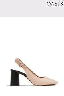 Oasis Natural Slingback Block Heels