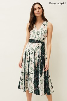Phase Eight Cream Bernita Floral Fit And Flare Dress