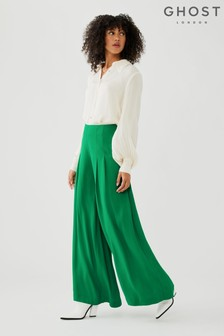 Ghost Kate Satin Back Crepe Trousers