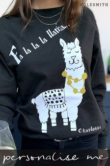 Personalised Llama Christmas Jumper by Solesmith