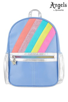 Angels by Accessorize Blue Rainbow Backpack