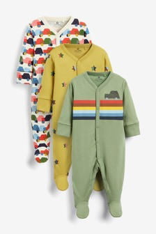 3 Pack Car Sleepsuits (0mths-2yrs)