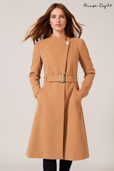 Phase Eight Neutral Susie Stand Up Collar Coat